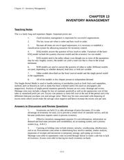 EA435_CLASS NOTES_Chap013.INVENTORY MANAGEMENT (CHAPTER REVIEW)