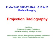 Lecture 3 - Projection Radiography