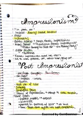 impressionist, american, and european artists notes1