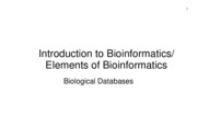 2 Biolobical Databases
