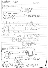math Classnote: lateral area