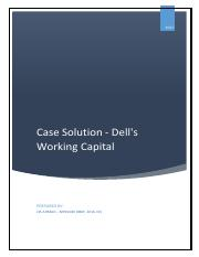 dell working capital case study answers