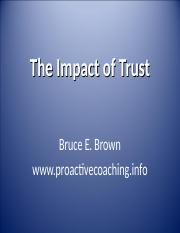 Bruce Brown--The Impact of Trust.ppt