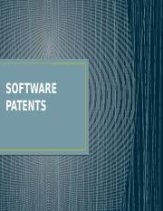 SOFTWARE PATENTS.pptx