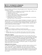 Resources and Responsibilities 2014