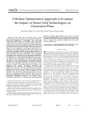 A Robust Optimization Approach to Evaluate