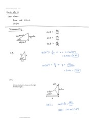 Class Note Triangles and Trigonometry