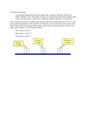 Logical Reasoning Example 2 (money problem)