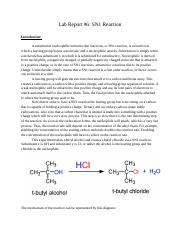 Lab Report 6 SN1 Reaction.docx