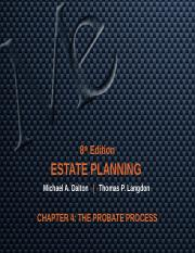 CHAPTER 4 THE PROBATE PROCESS