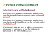 Chapter 05 Demand and Marginal Benefits