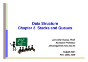 Stacks and queus by Juinn-Dar Huang