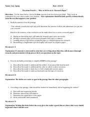 How to Write an A+ Research Paper Keystone Practice - Zoey Spang.docx