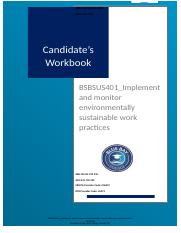 Implement and monitor environmentally sustainable work practices.docx