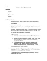 Ch 10 notes substance abuse disorders