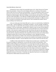 study reflection essay thesis  essays professors it is a way for a writer to share an important event in hisher life and  how it affected himher so that others may learn something from it term  paper