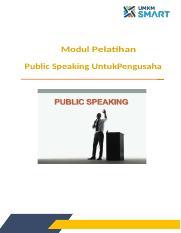 Fix Public Speaking Untuk Pengusaha Docx Modul Pelatihan Public Speaking Untukpengusaha Kata Pengantar Puji Syukur Kehadirat Tuhan Yang Maha Esa Course Hero