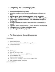 Accounting Cycle and General Journal Notes
