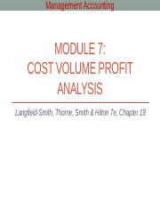Module 7 - Cost volume profit analysis.pptx