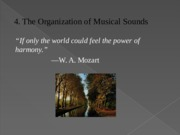 Chapter 4 The Organization Of Musical Sounds