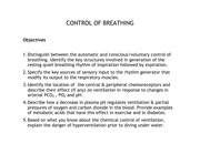 Lec 8 2013 Control of Breathing