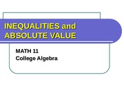 4.4 Linear Inequalities and Absolute Value