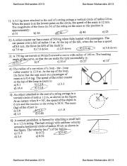Circular Motion And Other Application Of Newton's laws - PastPaper -  GearTeam (1)
