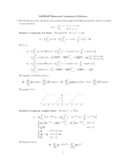 MATH 267 Homework 2 Solution