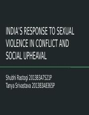 INDIA'S RESPONSE TO SEXUAL VIOLENCE IN CONFLICT AND SOCIAL UPHEAVAL.pptx