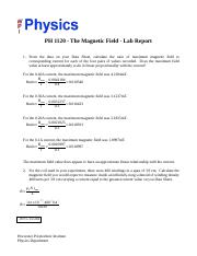 Magnetic Field Lab Report