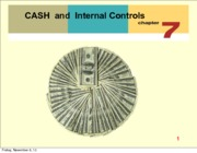 Chapter 7 Cash and Internal Controls