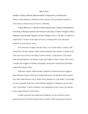 speech story example