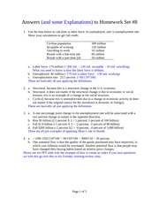Answers to Homework Set Number 8