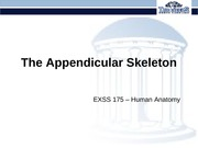 3-Osteology - Appendicular Skeleton