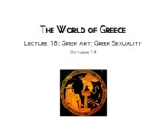 Lecture 18 Greek Homosexuality