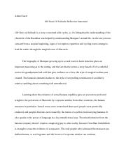 100 years of solitude reflective essay.docx