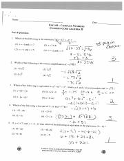 Unit 9 Topical Review Answers - Date ~ UNIT#9 COMPLEX