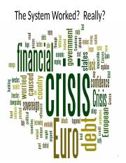 Class 12- Responses to the Financial Crisis