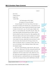 Thesis Examples In Literature
