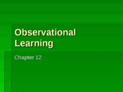 Lecture 11 - Observational