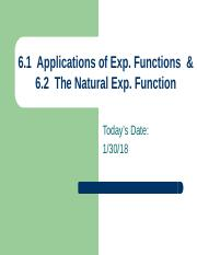 AMT 6.2  The Natural Exponential Function.pptx