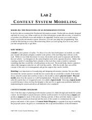 Lab 2 - Context System Modeling.doc