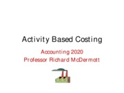 Ch  4 Activity Based Costing
