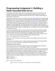 Homework on Building a Multi-Threaded Web Server
