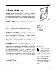 Johari Window Arenas
