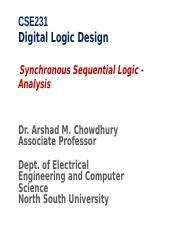 CSE231-class9-Synchronous Sequential Logic Analysis.ppt