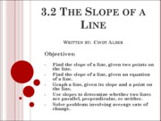 3.2 The Slope of a Line