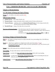 Unit 4 Thermochemistry and Nuclear Chemistry Notes (answers)