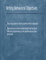 Writing Behavioral Objectives F17.pptx