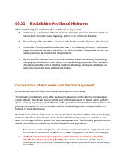 06.00 Establishing Profiles of Highways.docx